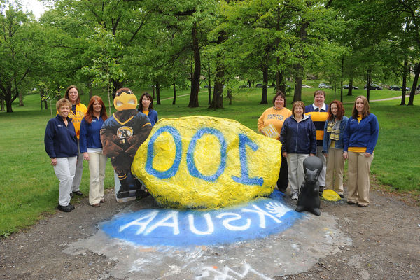 Campus Rock Painted for the Centennial Celebration