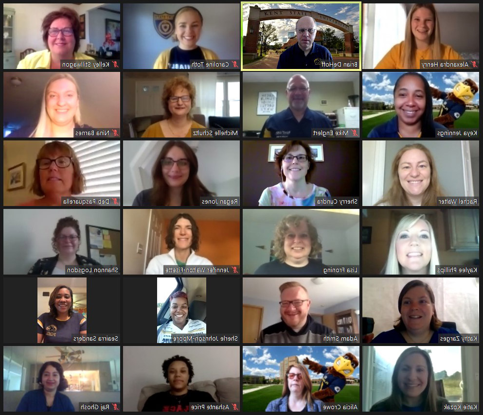 Photo of Academic Advisors Zoom Call Screen
