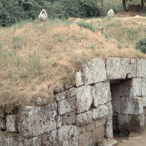 Etruscan tombs at Orvieto, Italy — 关于 45 norTH.west from where Dr. Sarah Harvey and her colleagues discovered a likely Etruscan necropolis in summer 2019.