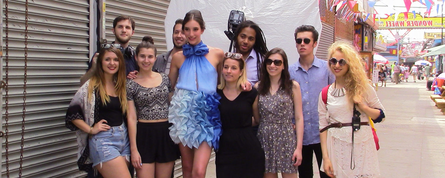 Summer '14 Fashion Image students collaborating with New York Film Academy students.