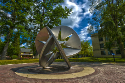 Sculpture near Franklin Hall